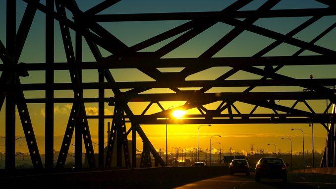 Skyway at sunset